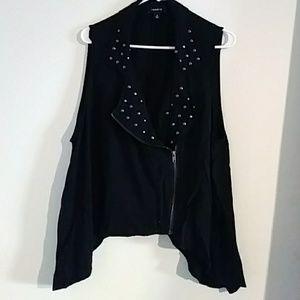 Torrid black embellished vest